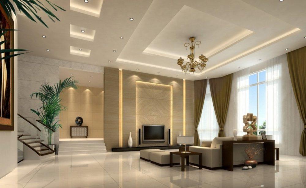Mẫu trần thạch cao phòng khách đẹp 8