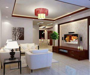 Mẫu trần thạch cao phòng khách đẹp 11